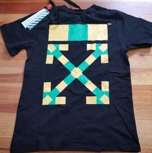 Off-white Africa Yellow/Green Tee Shirt